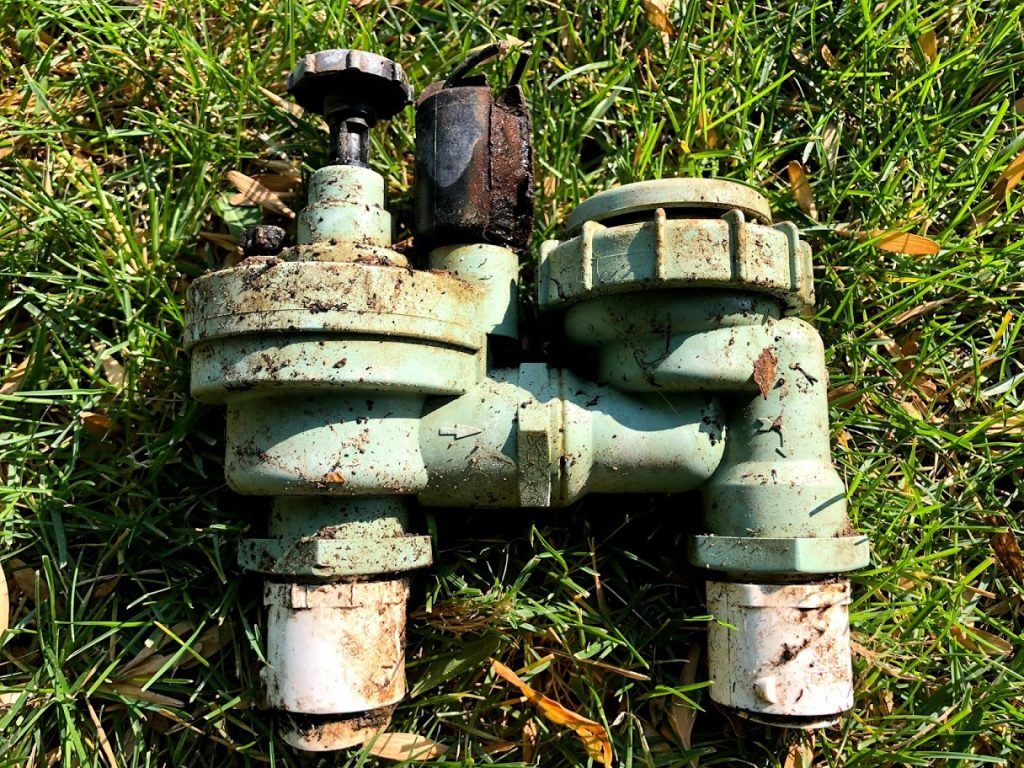 Old Melted Sprinkler Valve